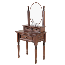 F41010A-1 European solid wood bedroom furniture antique dresser with mirror
