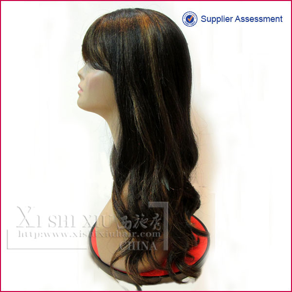 Hot human hair Chinese remy full lace wigs for white people