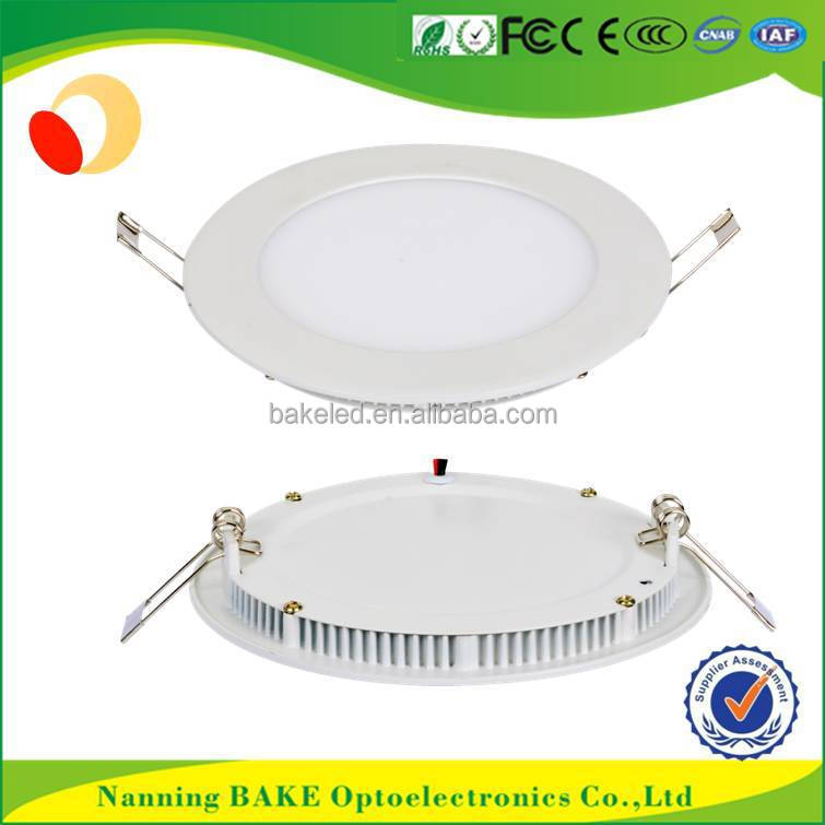 2 years warranty AC85-265 round square shape 24w recessed led panel round