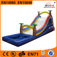 Popular coconut palm tree inflatable water slides for sale