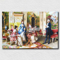 Beautiful canvas prints classical palace figures oil painting fine art decor