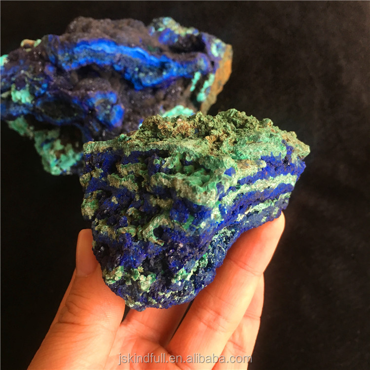 Wholesale Natural Raw Azurite Chessylite Blue malachite Rough Stone semi precious stone mineral Specimen for Raw material