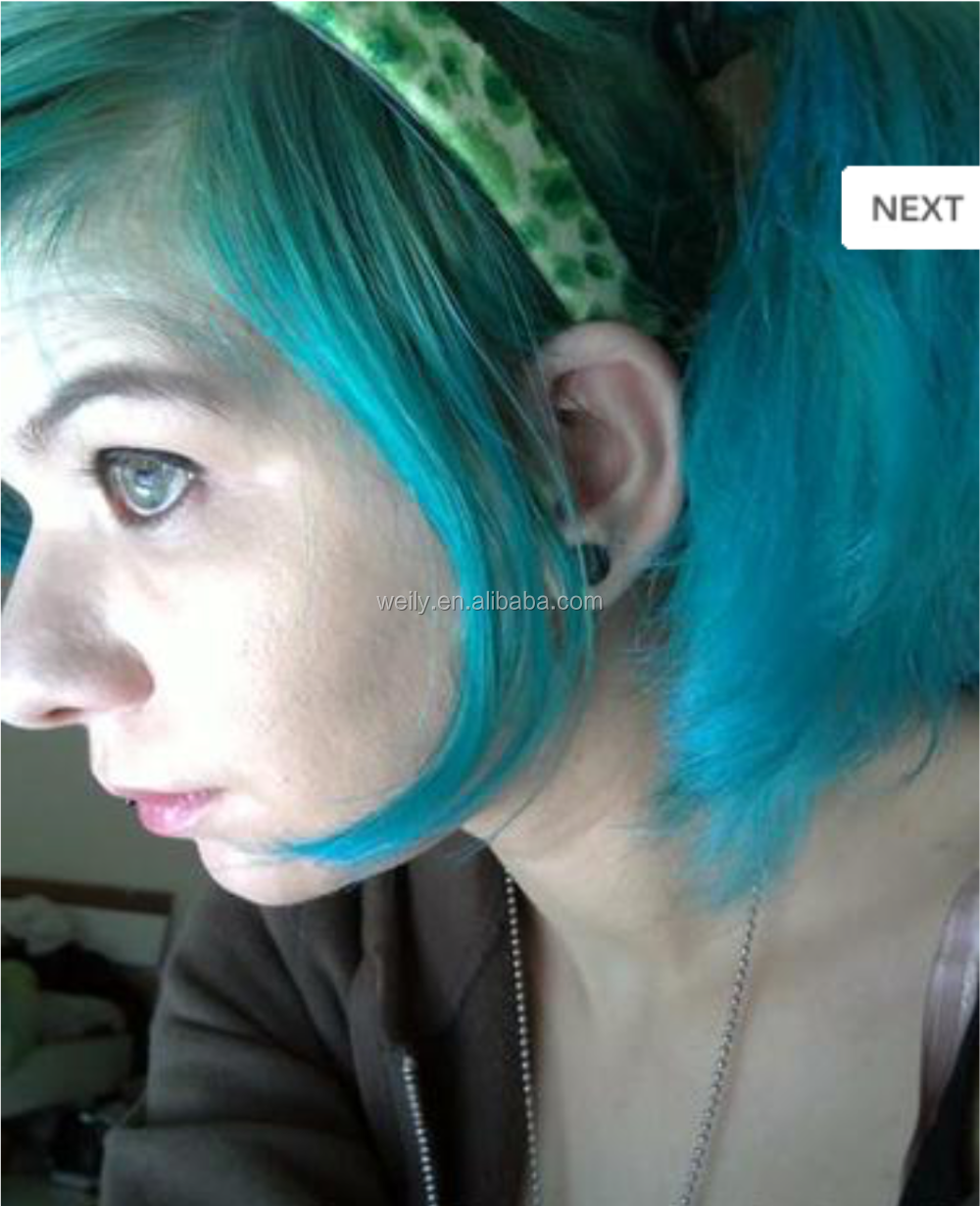 semi permanent hair colour Bubblegum Blue