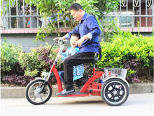 New Arrive 48V Electric Tricycle With 2 Seats Basket Long Mileage Lithium Battery 3 Wheel Electric Tricycle