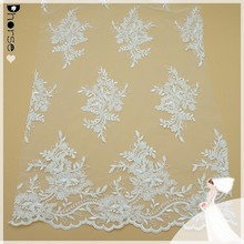 DH-BF400 Eyelash Lace Fabric in Off White for Bridal Gowns/Mantilla Veils/Garments/Curtains