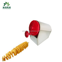 Professional industrial potato ribbon cutter/electric french fry potato cutter