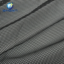 2016 Clothing Polyester Black Open Weave Mesh Fabrics For Baby Crib