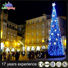 tree light outdoor big pvc artificial giant christmas tree light decorative tree trunks