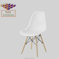 outdoor furniture garden plastic chair with wood legs