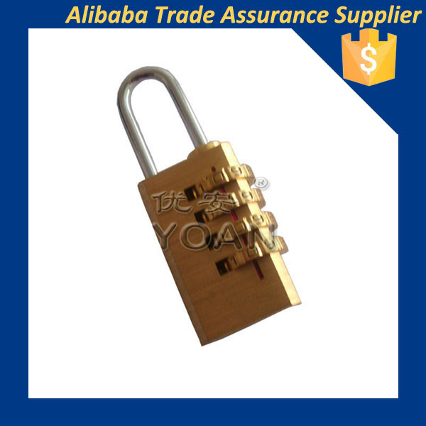 mini safety 4 code number combination bag luggage door brass padlocks