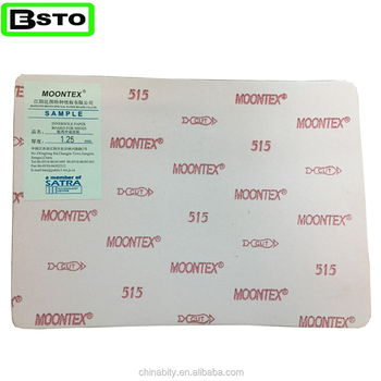 jiangyin besto china moontex 515 pure wood pulp insole paper board