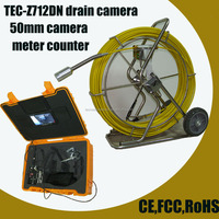 50mm Self-Leveling Push Rod used sewer camera for sale sewer pipe inspection camera