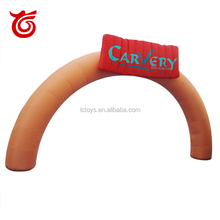 pvc cheap inflatable arch shop door for food