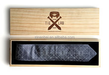 Custom logo and color wood necktie box,wooden tie packaging boxes