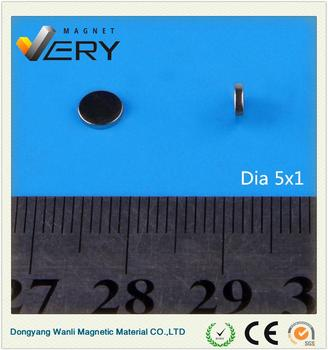 Dia5x1mmProfessional radial magnetization ring magnet magnet motor free energy rare earth magnet motors made in China