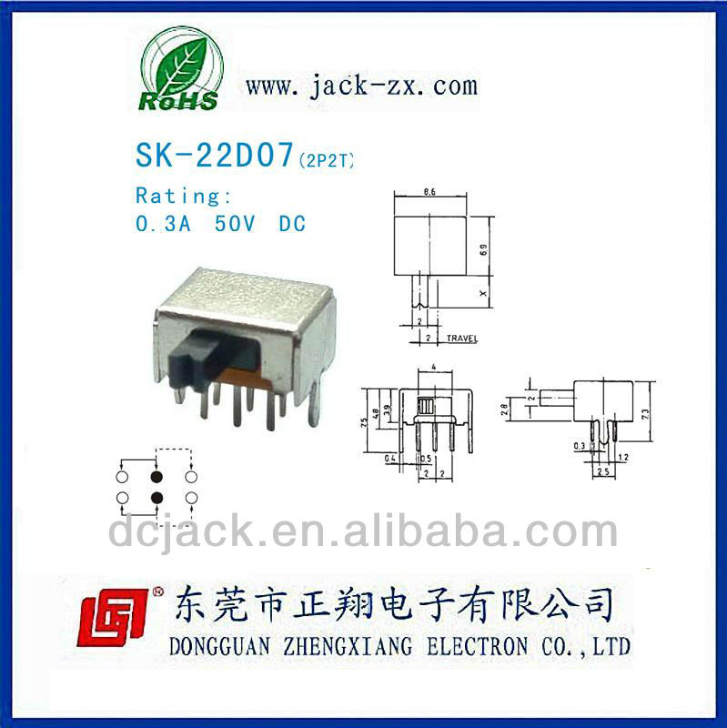SK-22D07 for NEC used in computer off on on toggle switch