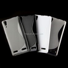TPU S Line Soft Gel Back Case for Lenovo A6000 Cover Marketing Plan New Product