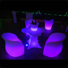 Illuminated Led bar table/night club battery rechargeable plastic bar table