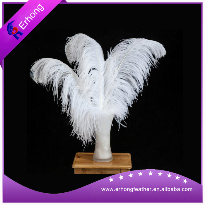 Big decorative Artificial Cheap White Ostrich Feather for sale