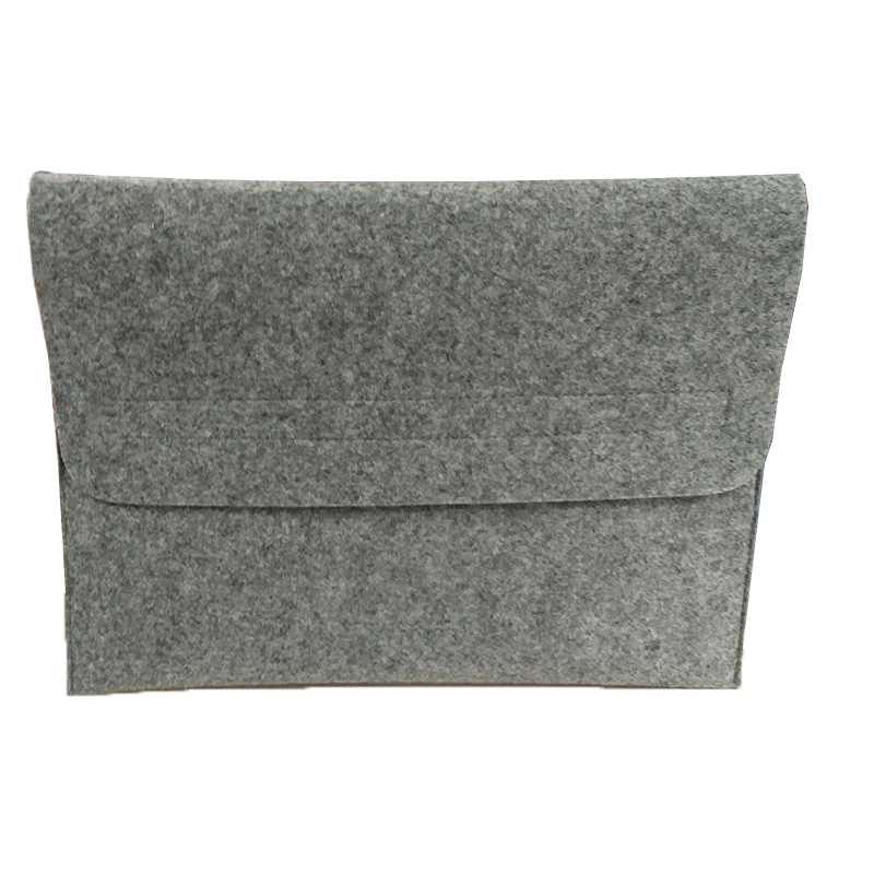 Wholesale 15 Inch Light Grey Felt Laptop Sleeve