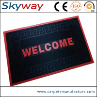 Manufacture custom natural anti slip rubber floor mat