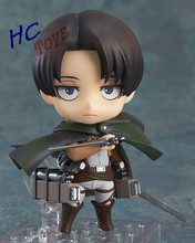 Nendoroid Attack on Titan Shingeki no Kyojin Scouting Legion Levi Rivaille PVC Action Figure Model Collection Toy