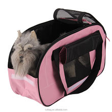 Outdoor Travel Pink Carrier Bag for Pet Puppy Dog Cat Carry Tote Shoulder