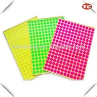 Colorful Dot Self Adhesive Sticker Label