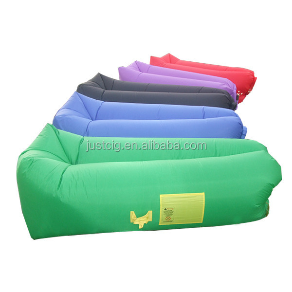 2016 most popular Nylon 3 season air filling inflatable sleeping bag with best price