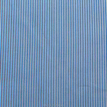 Luthai Textile NOS 100% cotton material yarn dyed blue white stripe pattern men's shirt fabric