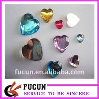 heart crystal acrylic stone for clothing decoration