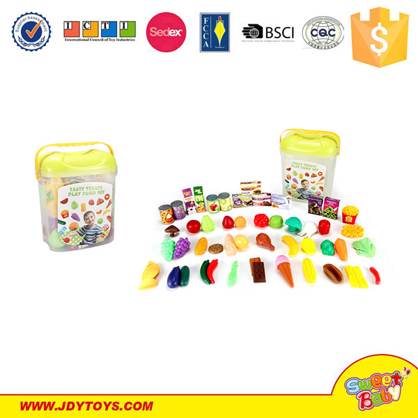 Tableware Pretend Toy Playing Eating Foods Kids Play Kitchen Set