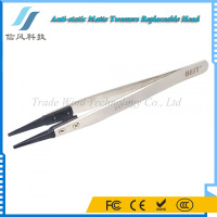 BEST-242 Stainless Steel Anti-static ESD Tip Replaceable Tweezers Matt Tweezers