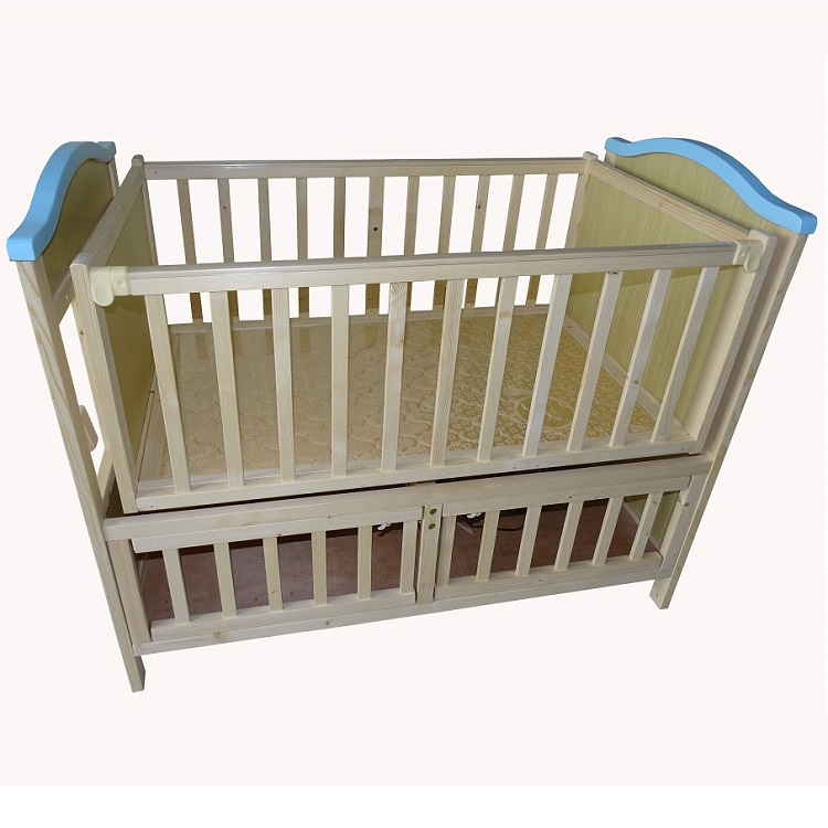 Natural Wood Upgrade Baby Automatic Swing Cot Bed Electric Swing Bed