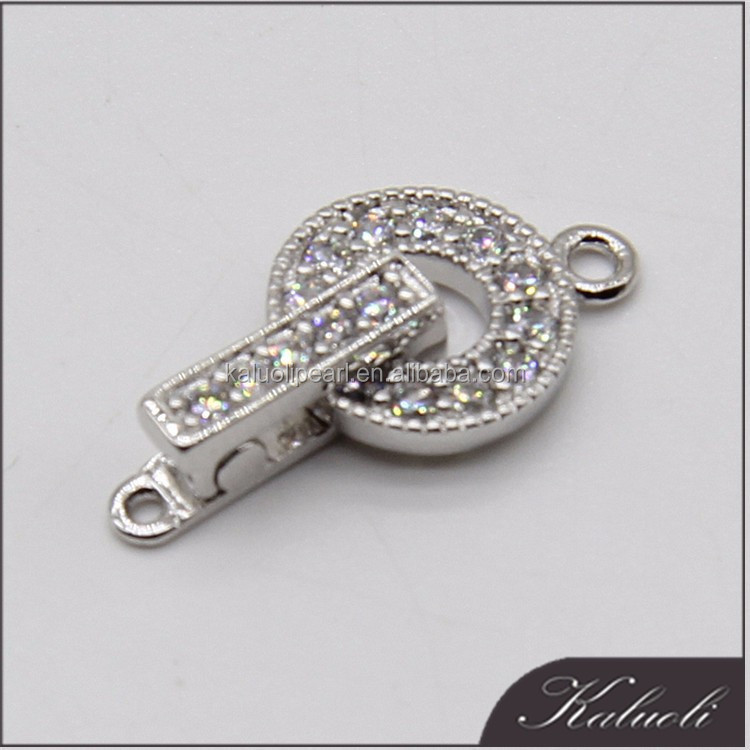 Unique simple type 925 silver jewelry adjustable clasp