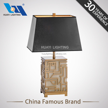Cheap contemporary decoration lighting retro chinese style metal antique marble table lamp for living room