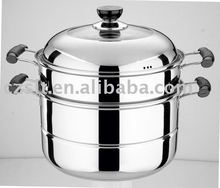 Stainless steel two-layer steam pot for wholesale
