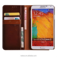 wallet leather phone case cover for Samsung galaxy note 3 with flip cover