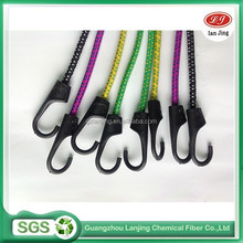 Four colors braided round rope plastic hooks For Motorcycle Bike