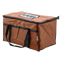 Promotional good quality custom brown picnic drinks insulated food delivery thermal cooler bag for lunch food box