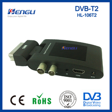 HOT selling dvb-t2 digital terrestrial tv receiver dvb t2 scart mini tv box