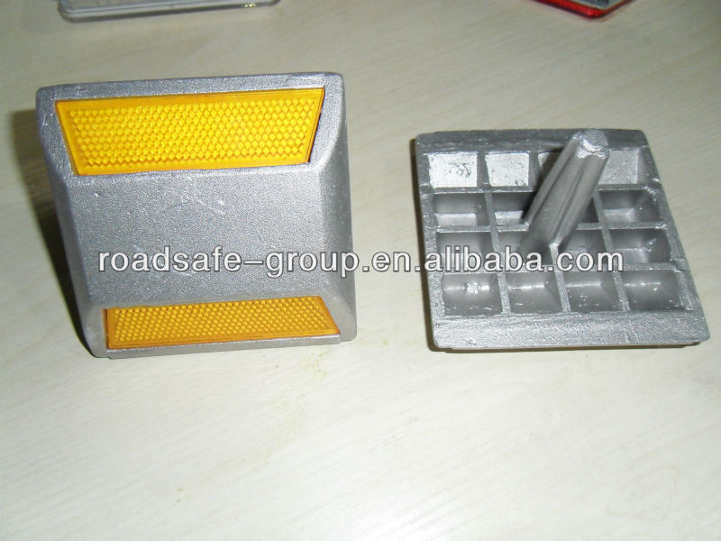 high brightness retroreflective cat eye/aluminum road studs/ high reflective pavement road stud