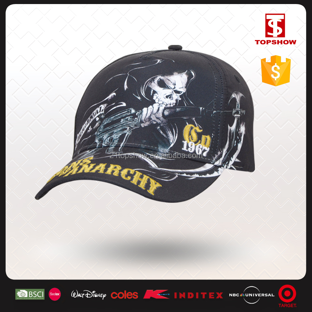 Topshow movie character Devil baseball custom kids sun hats