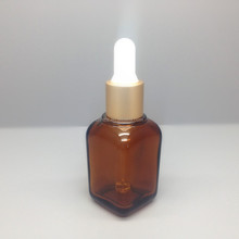 High Quality 30ML Essential Oil Brown Square Glass Bottle,glass dropper bottle