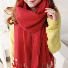 Factory main products! top sale solid color lady long acrylic scarf