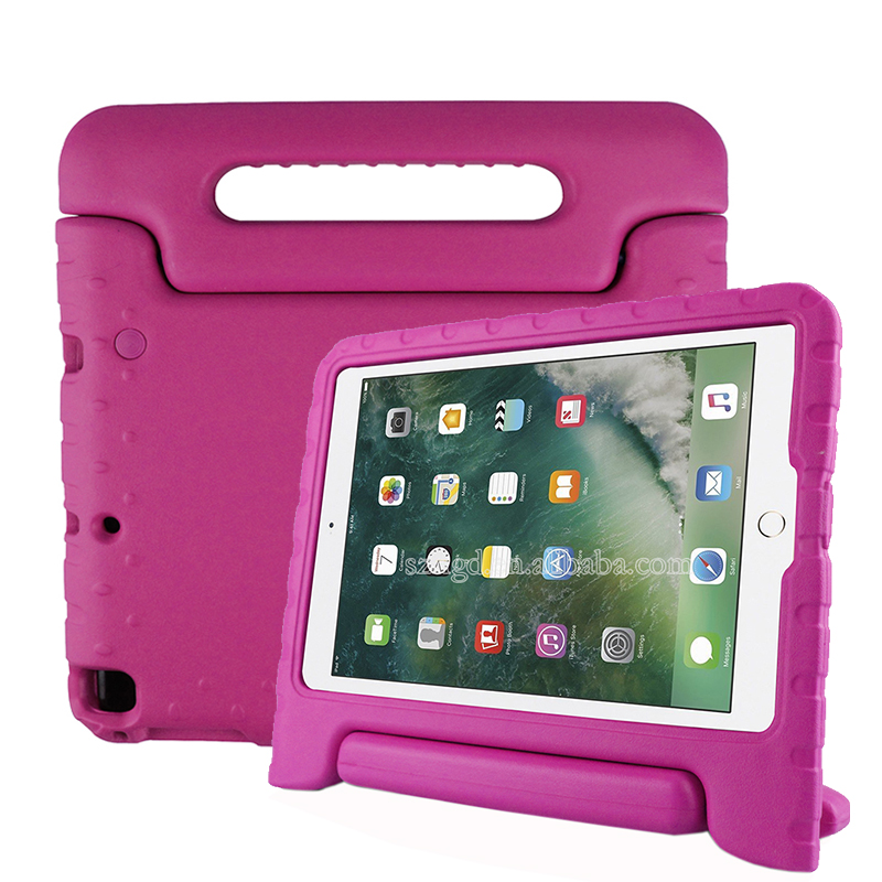 Kids friendly eva foam shock proof handle stand bumper cover for new ipad 9.7 cover
