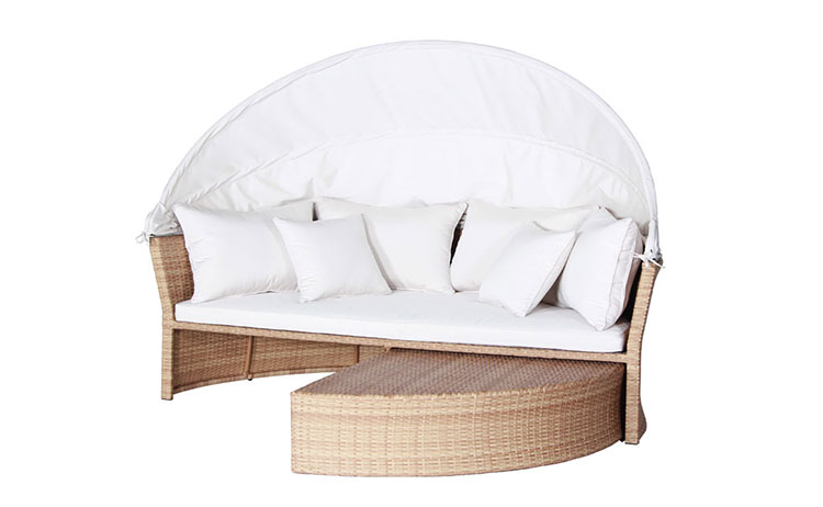 Cheap price semicircle classic wicker sofa relaxing rattan wicker sofa