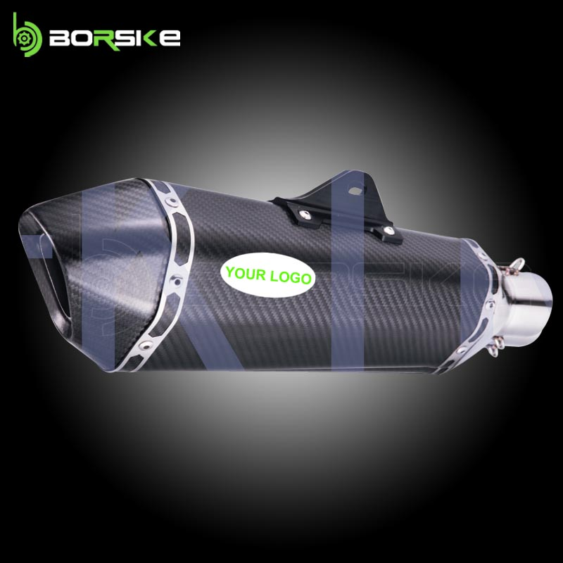 High quality modified exhaust motorcycle muffler CFRP exhaust muffler