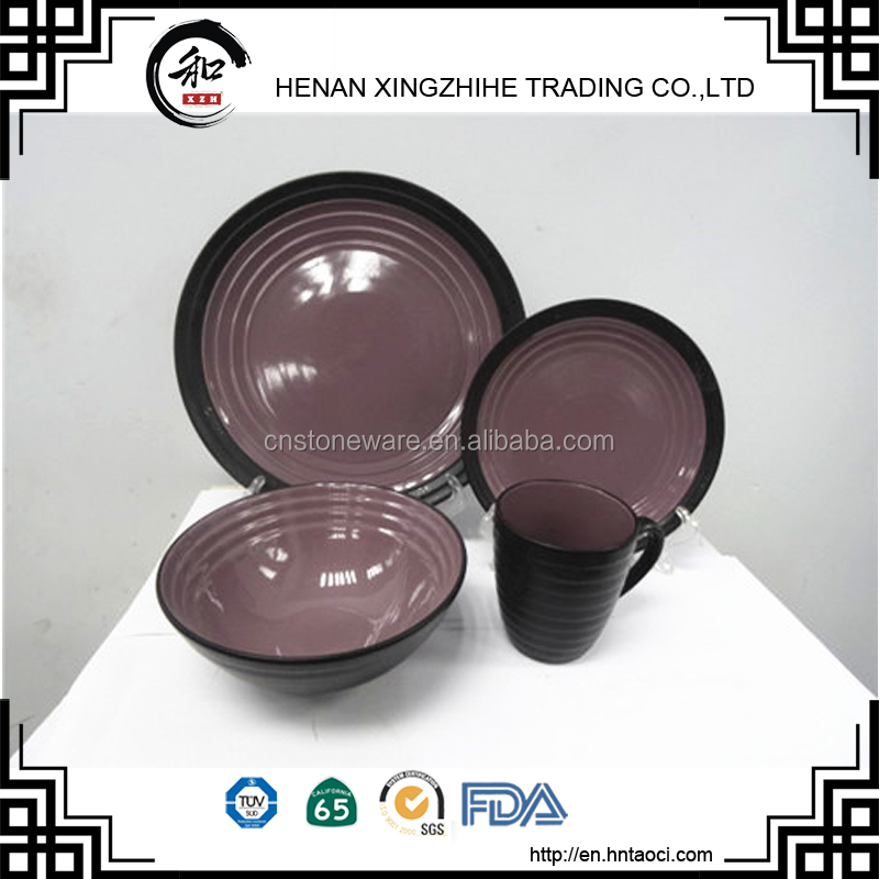 Embossed logo 16pcs handpainted dinner set for United Arab Emirates