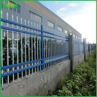 strong wrought iron ornamental fence with spear points from Anping factory